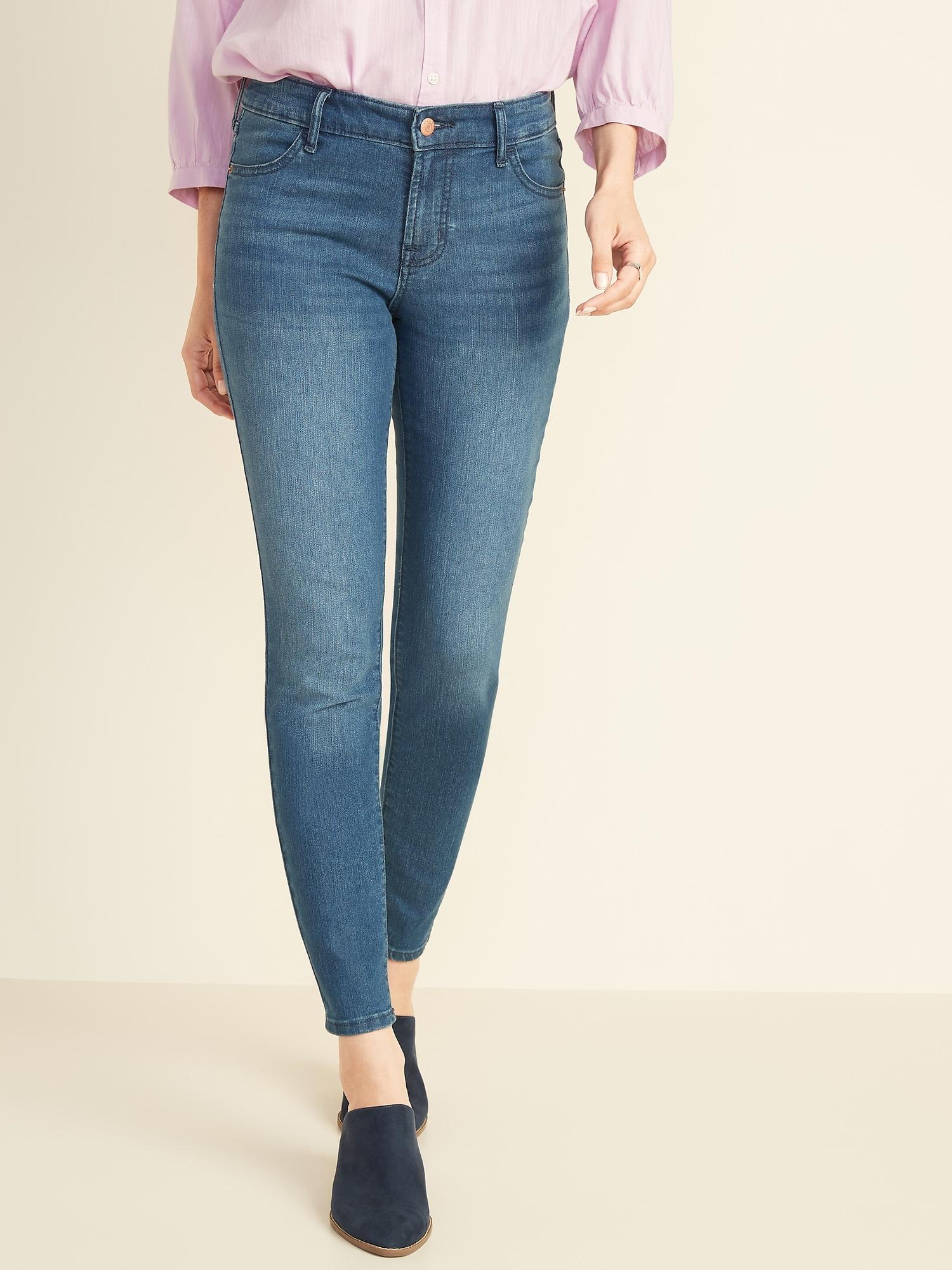 b2b9b02f158ba Mid-Rise Super Skinny Jeans for Women | Old Navy