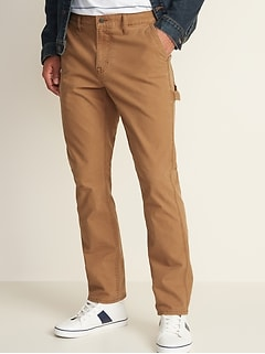 Straight Built-In Flex Carpenter Pants For Men