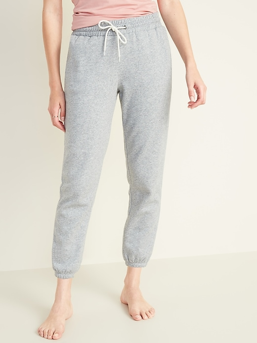 French Terry Cinched-Hem Sweatpants for Women