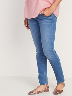 Maternity Front Low-Panel Universal Straight Jeans