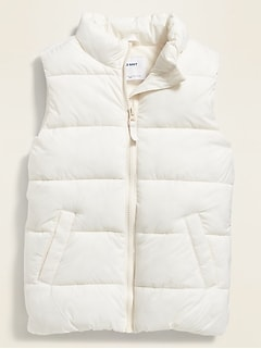 Frost-Free Quilted Puffer Vest for Girls