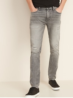 Skinny Built-In Flex Distressed Skinny Jeans For Men