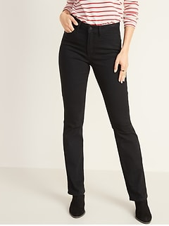 High-Waisted Kicker Boot-Cut Jeans For Women