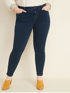 High-Waisted Plus-Size Rockstar Built-In Sculpt 24/7 Jeans