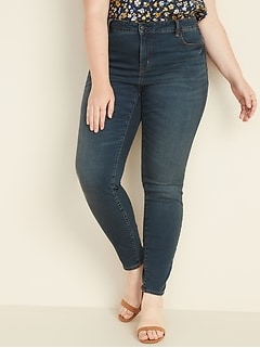 High-Waisted Secret-Slim Pockets Plus-Size Skinny Rockstar Jeans