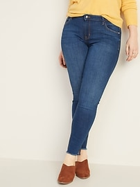 Mid-Rise Rockstar Super Skinny Ankle Jeans for Women