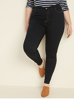 High-Waisted Secret-Slim Pockets Plus-Size Rockstar Skinny Jeans