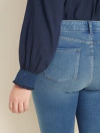 High-Waisted Secret-Slim Pockets + Waistband Plus-Size 24/7 Sculpt Rockstar Jeans