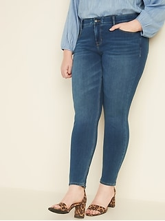 High-Waisted Secret-Slim Pockets + Waistband Built-In Sculpt Plus-Size Rockstar 24/7 Jeans