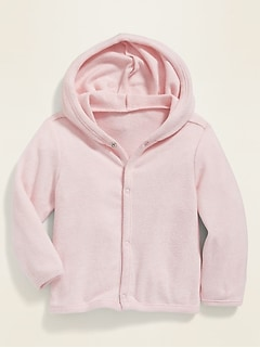 Unisex Snap-Front Sweater Hoodie for Baby