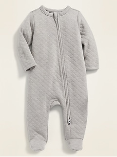 Unisex Quilted Footed One-Piece for Baby