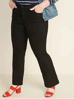 Mid-Rise Plus-Size Kicker Boot-Cut Jeans
