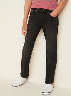 Straight Built-In Flex Black Jeans for Boys