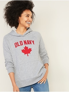 Logo-Graphic French Terry Pullover Hoodie for Women