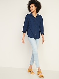 1573e14d3bc1 Chambray Classic Shirt for Women | Old Navy