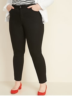 Mid-Rise Plus-Size Pop Icon Skinny Black Jeans