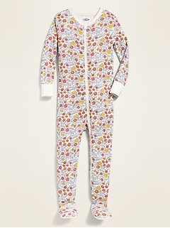 Floral-Print Footed One-Piece Sleeper for Toddler Girls & Baby