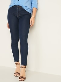 Mid-Rise Dark-Wash Super Skinny Jeans for Women