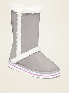 Tall Faux-Suede Adoraboots for Girls