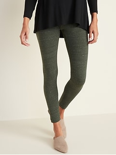 Mid-Rise Space-Dye Leggings for Women