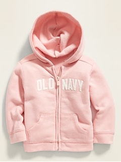 Logo-Graphic Zip Hoodie for Baby