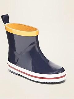 Short Rubber Rain Boots for Toddler Boys