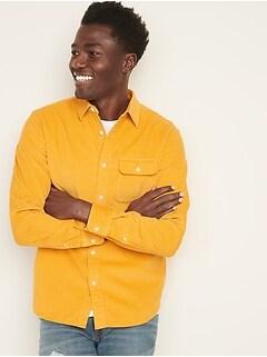 Chemise en velours côtelé, coupe standard pour homme
