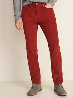 Slim Built-In Flex Five-Pocket Corduroy Pants For Men
