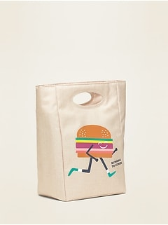 Graphic Canvas Lunch Tote