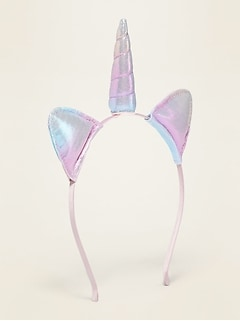 Iridescent Unicorn Headband For Girls
