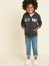 Unisex Logo-Graphic Zip Hoodie for Toddler
