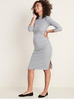 Maternity Rib-Knit Bodycon Dress
