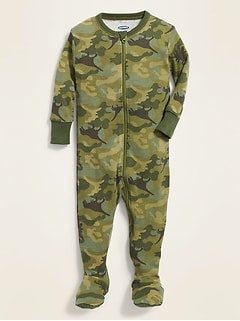 Camo Footed One-Piece Sleeper for Toddler Boys & Baby