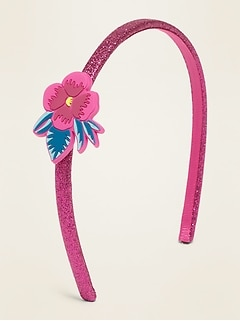 Icon-Applique Glitter Headband For Girls