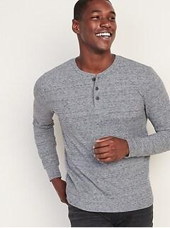 Thermal-Knit Henley for Men