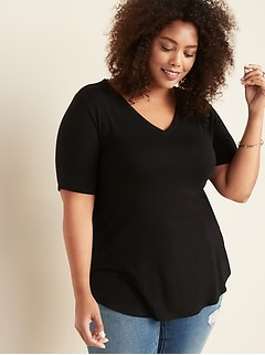 Luxe Plus-Size V-Neck Tunic Tee
