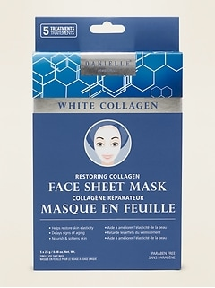Danielle® Creations White Collagen Face Sheet Mask