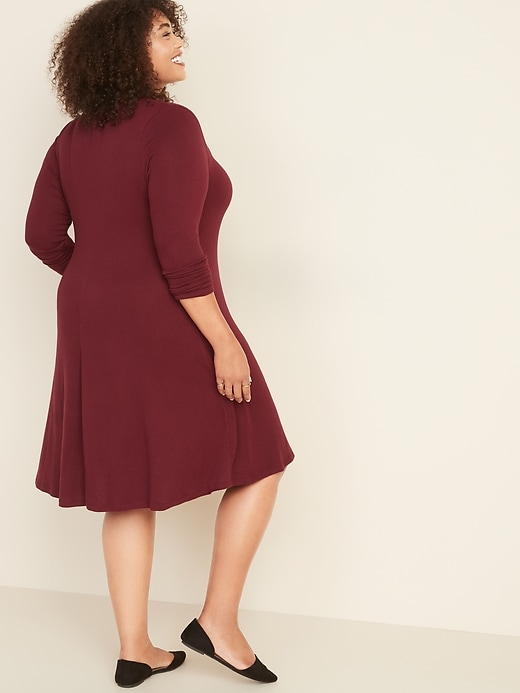 Plus-Size Plush-Knit Swing Dress