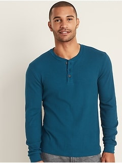 Thermal-Knit Henley for Men