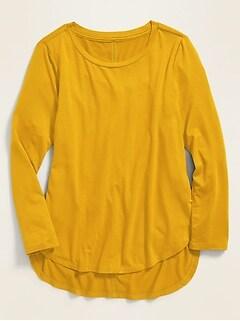 Luxe Tulip-Hem Jersey Tunic for Girls