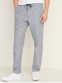 Relaxed Slim Built-In Flex Pull-On Anytime Chinos for Men
