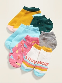 Fashion Ankle Socks 6-Pack for Girls