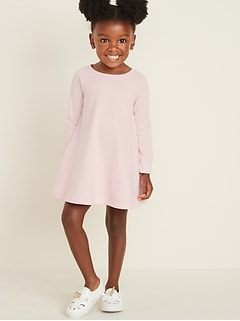 French Terry Sweatshirt Dress for Toddler Girls