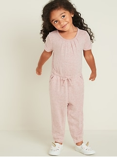 Plush-Knit One-Piece for Toddler Girls