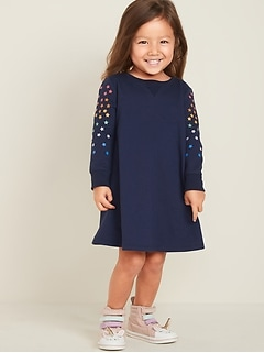 French-Terry Dress for Toddler Girls