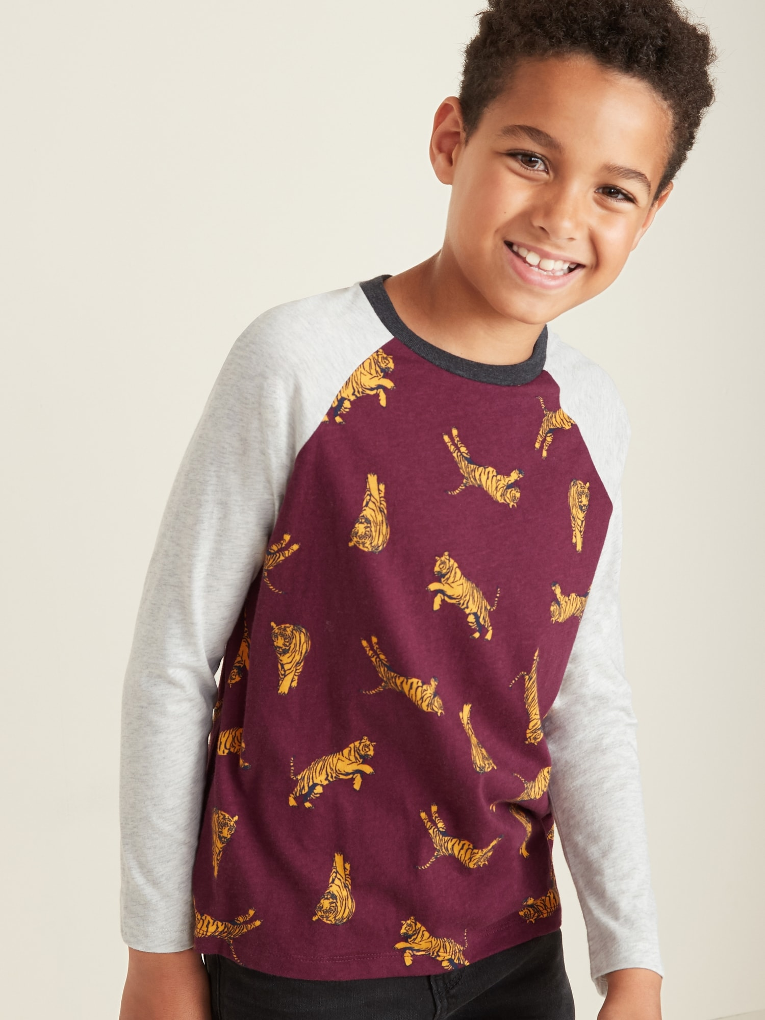 Printed Softest Raglan Sleeve Tee For Boys by Old Navy
