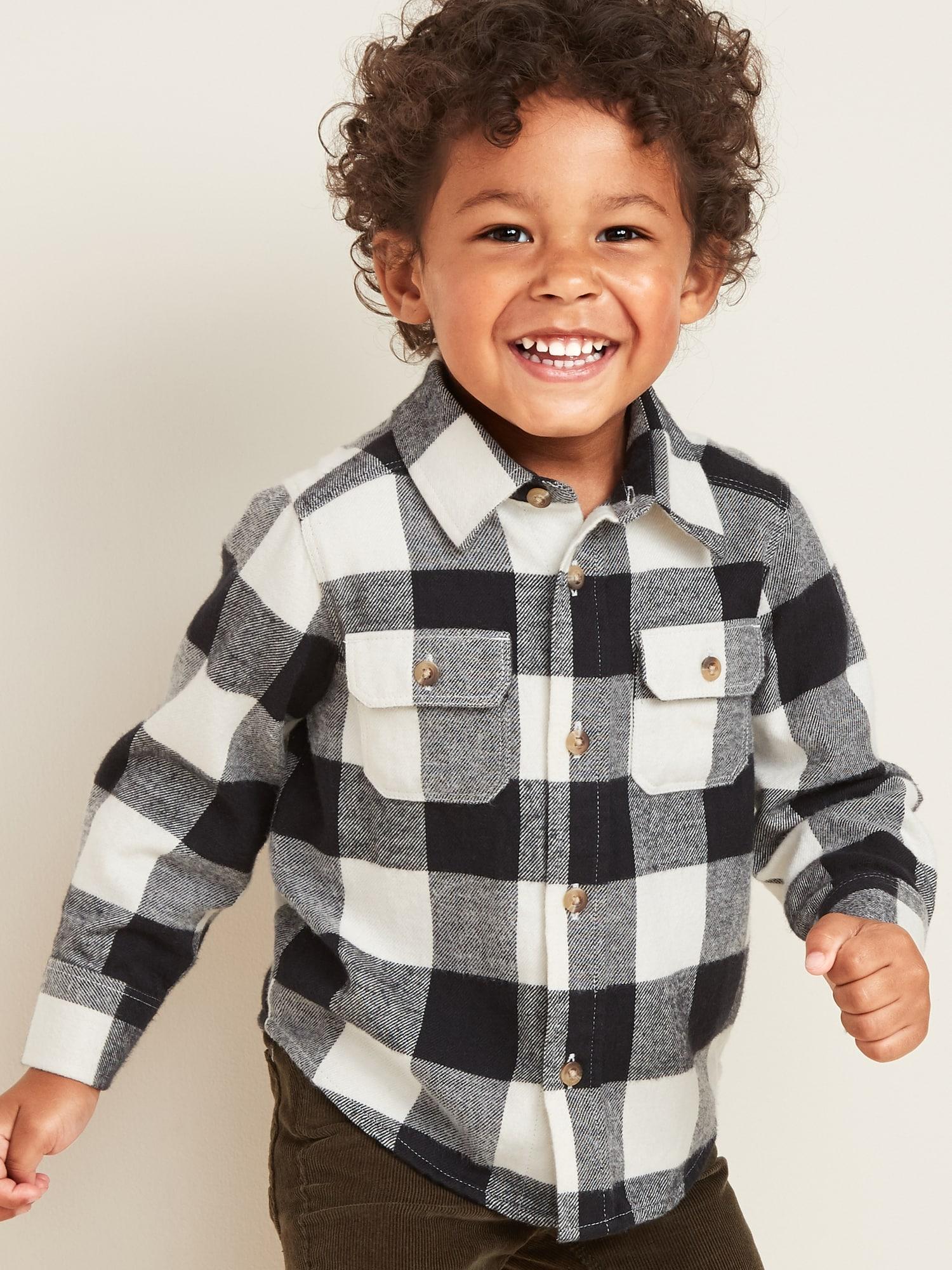 Baby Gap Boy/'s Red Buffalo Plaid Cardigan Sweater Size 2T 4T