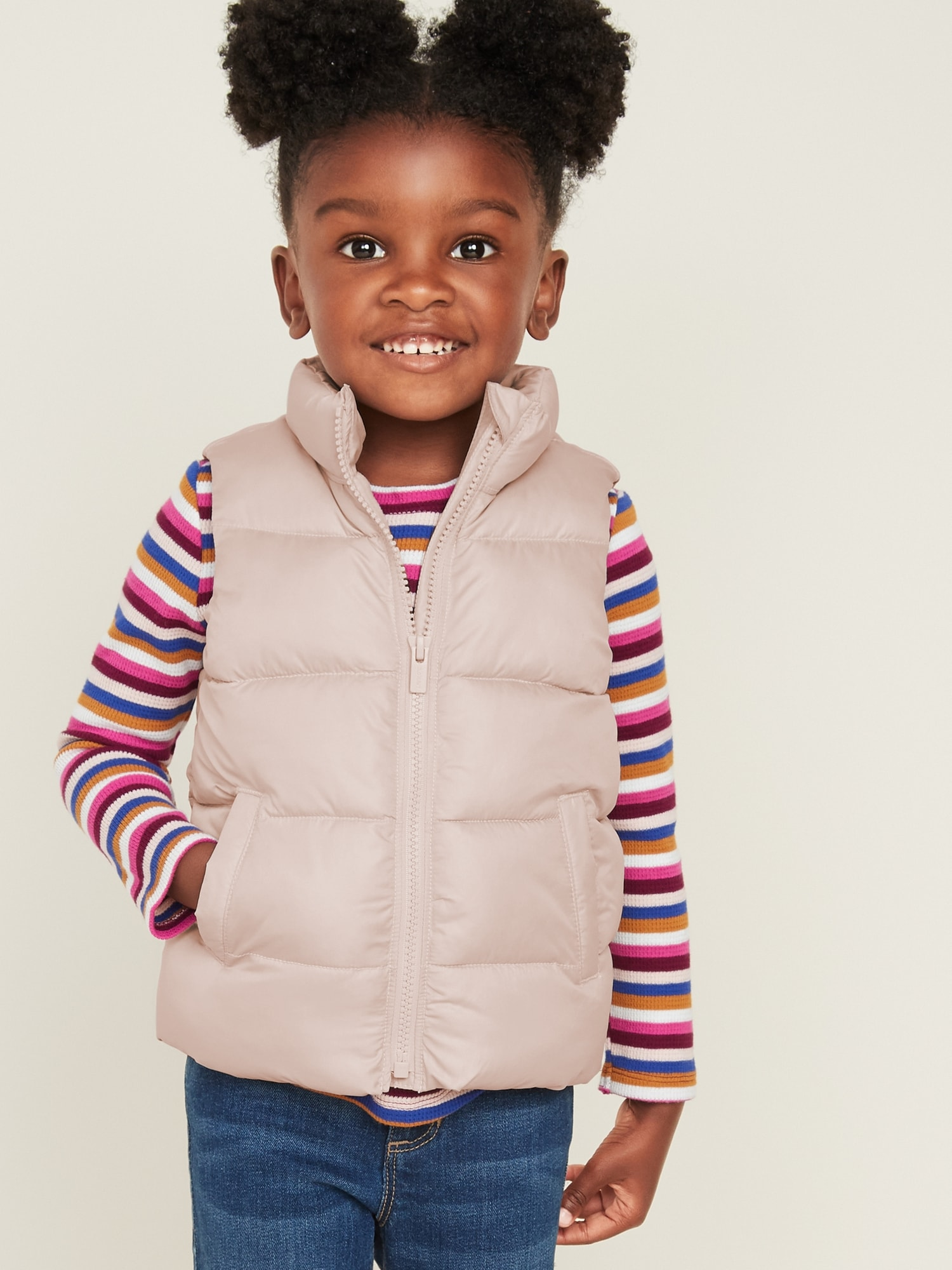 Frost Free Quilted Puffer Vest For Toddler Girls by Old Navy