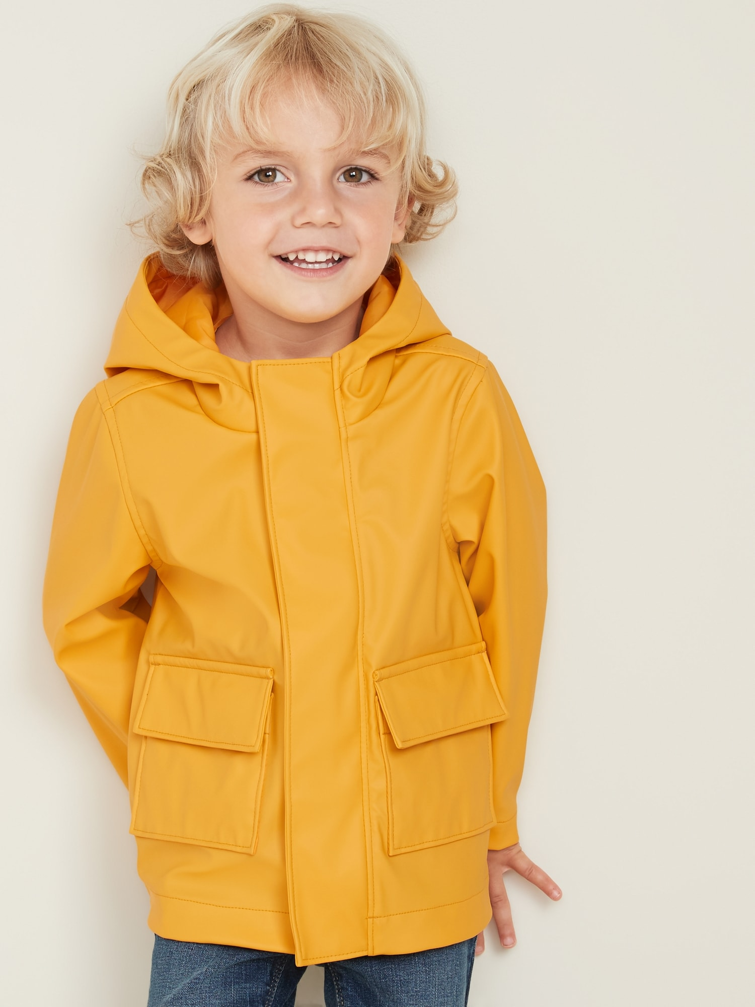 various design luxury free delivery Water-Resistant Hooded Rain Jacket for Toddler Boys | Old Navy