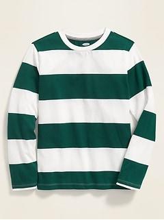 Softest Bold-Stripe Long-Sleeve Tee for Boys